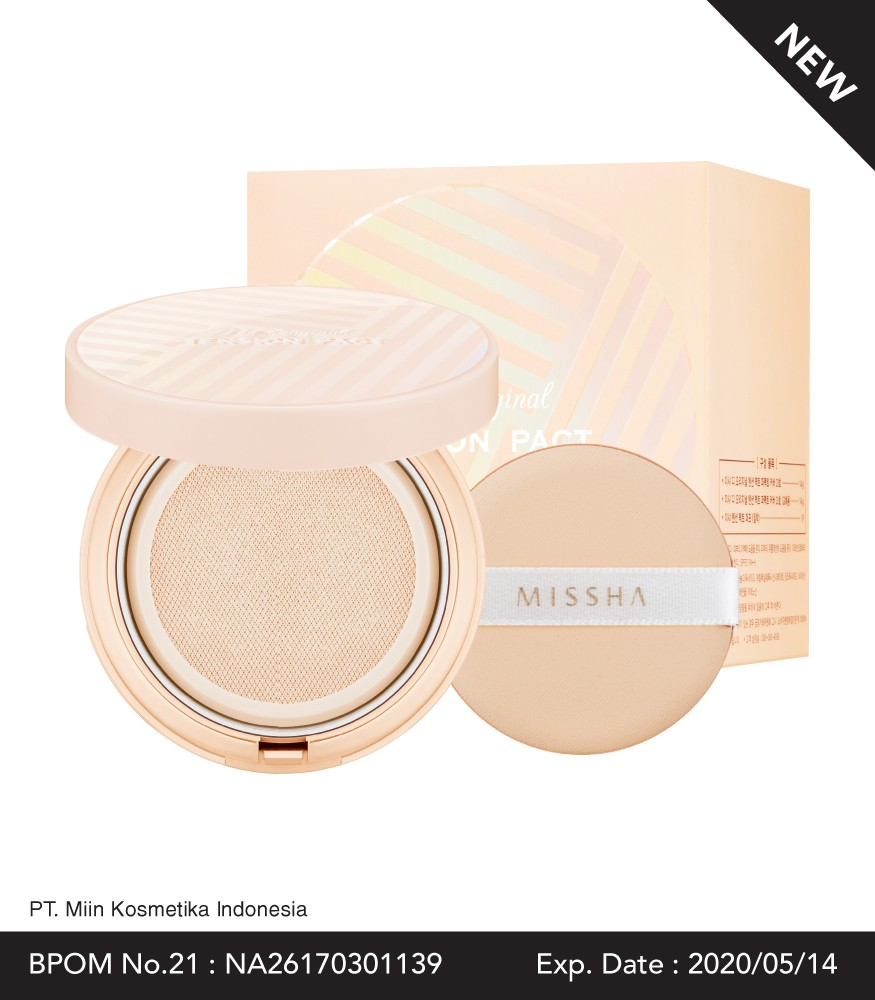 MISSHA The Original Tension Pact Perfect Cover SPF37/PA++ (Free Refill + Extra Puff)