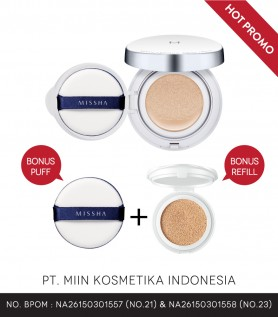 M MAGIC CUSHION SET SPF50+/PA+++ (FREE REFILL & EXTRA PUFF)