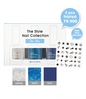 Nail Polish Set Chic Blue (GWH02, GBL01, BL07)