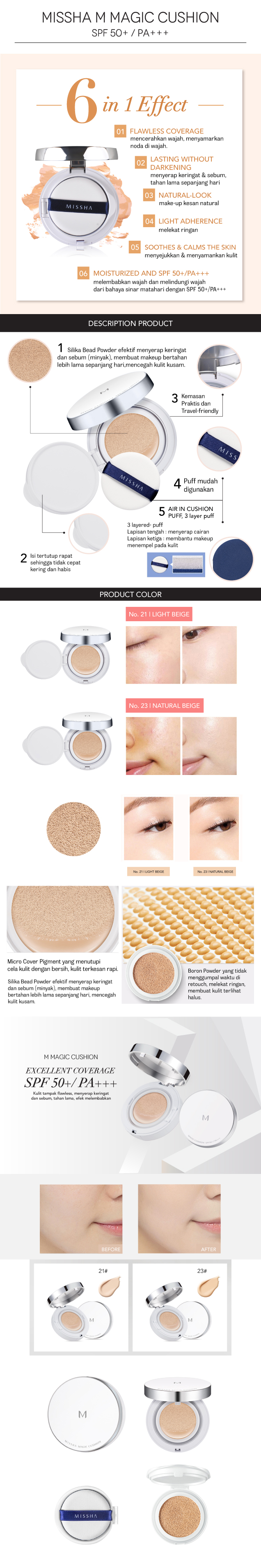 M MAGIC CUSHION MISSHA INDONESIA