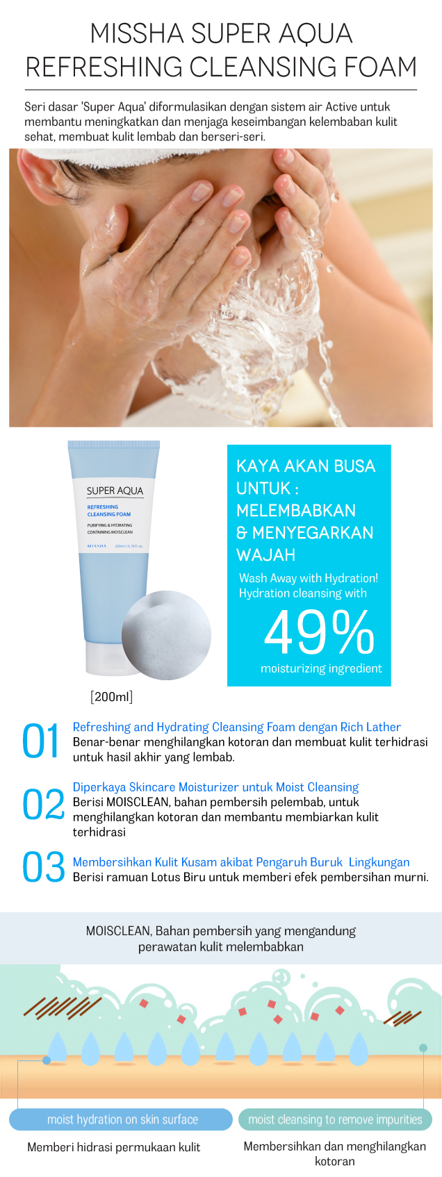 super aqua cleansing foam