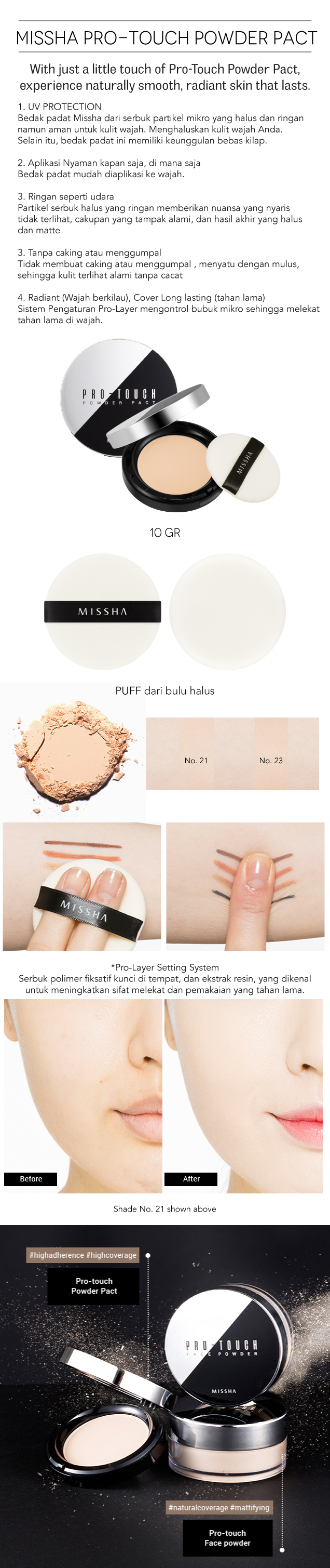 MISSHA PRO-TOUCH POWDER PACT